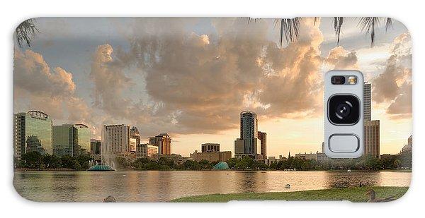 Downtown Orlando Skyline Lake Eola Sunset Galaxy Case