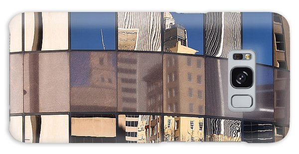 Downtown Reflections Galaxy Case by Lawrence Burry
