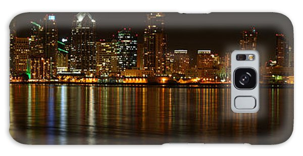 Downtown San Diego At Night From Harbor Drive Galaxy Case