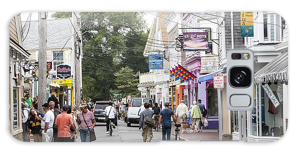 Downtown Scene In Provincetown On Cape Cod In Massachusetts Galaxy Case