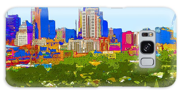 Downtown St. Louis From The Southwest Abstract Galaxy Case