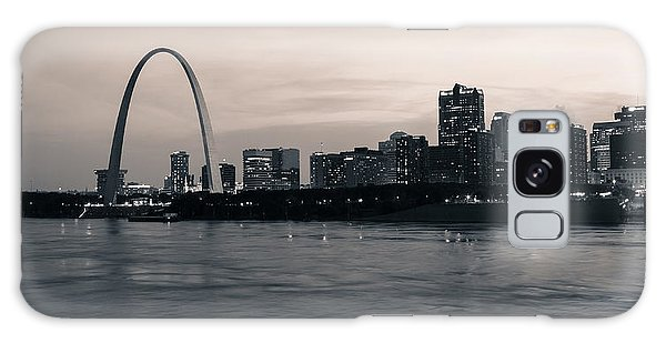 Downtown St. Louis In Twilight Galaxy Case