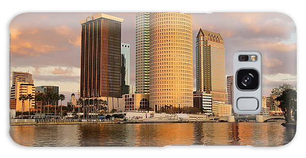Downtown Tampa At Dusk On Hillsborough River Galaxy Case by Daniel Woodrum