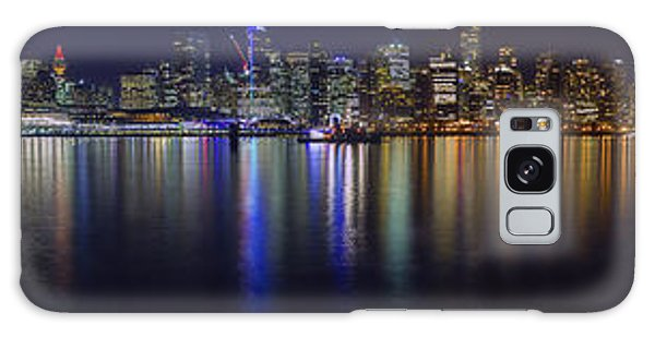 Downtown Vancouver Skyline By Night Galaxy Case