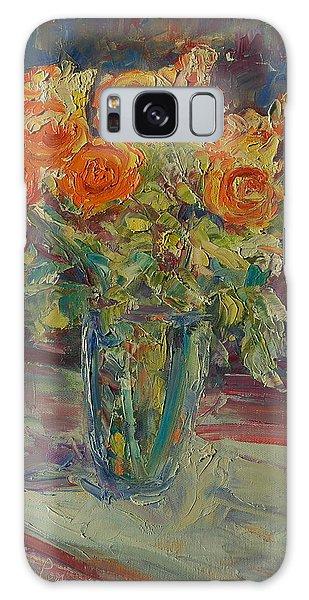 Dozen Orange Roses Galaxy Case