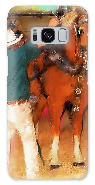 Draft Horse And Trainer Galaxy Case