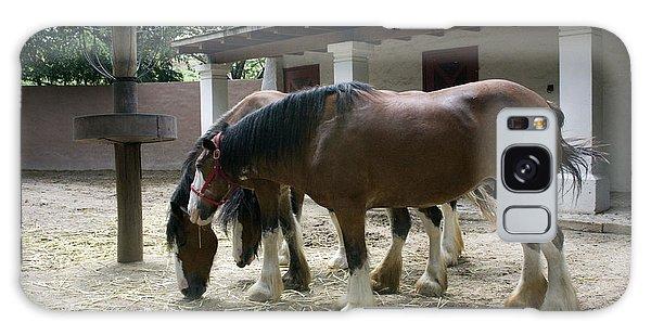 Draft Horses Galaxy Case by Lynn Palmer
