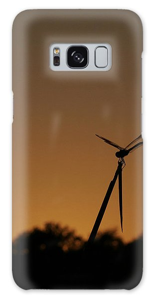 Dragon Fly Silhouette Galaxy Case