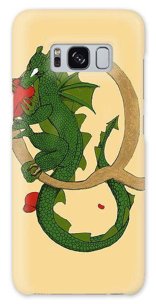 Dragon Letter Q Galaxy Case by Donna Huntriss