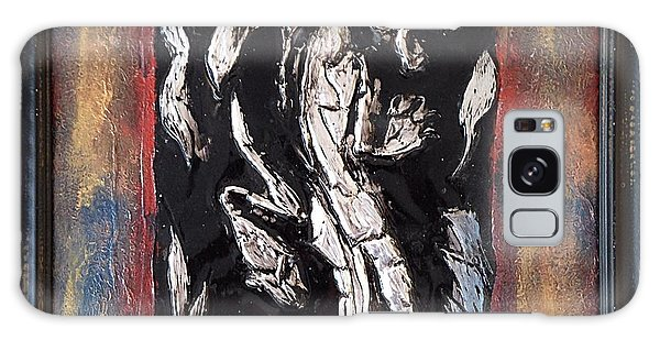 Alfredo Garcia Galaxy Case - Dragon Lion Repousse And Chasing By Alfredo Garcia Art - Original Mixed Media Modern Abstract Painti by Alfredo Garcia