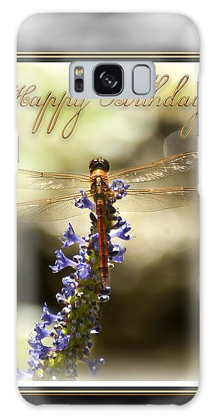 Galaxy Case featuring the photograph Dragonfly Birthday Card by Carolyn Marshall