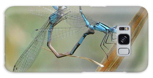Dragonfly Courtship Galaxy Case