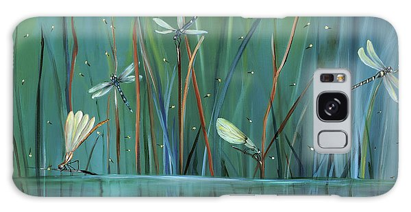Modern Galaxy Case - Dragonfly Diner by Carol Sweetwood