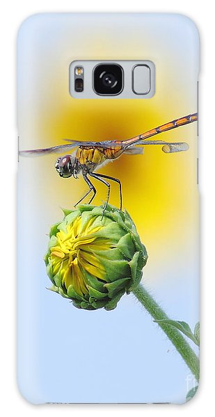 Dragonfly In Sunflowers Galaxy Case by Robert Frederick
