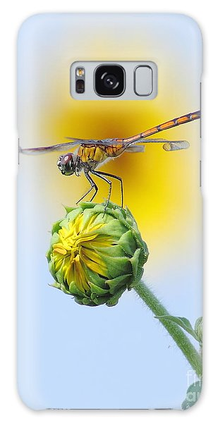 Dragonfly In Sunflowers Galaxy Case