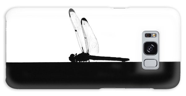 Dragonfly Silhouette Galaxy Case by Maggy Marsh