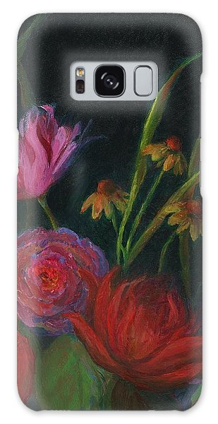 Dramatic Floral Still Life Painting Galaxy Case