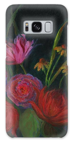 Dramatic Floral Still Life Painting Galaxy Case by Mary Wolf