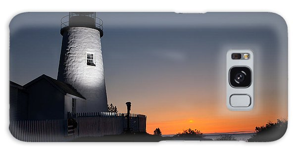 Dramatic Lighthouse Sunrise Galaxy Case