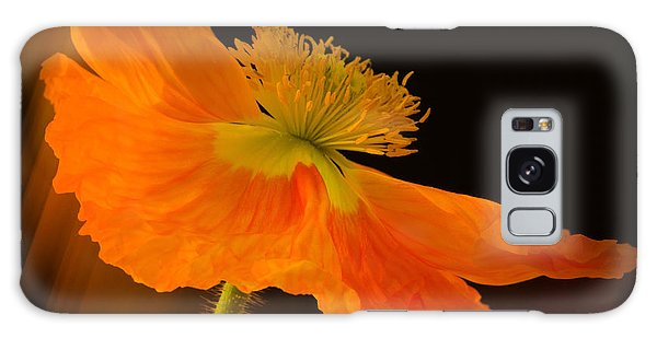 Dramatic Orange Poppy Galaxy Case