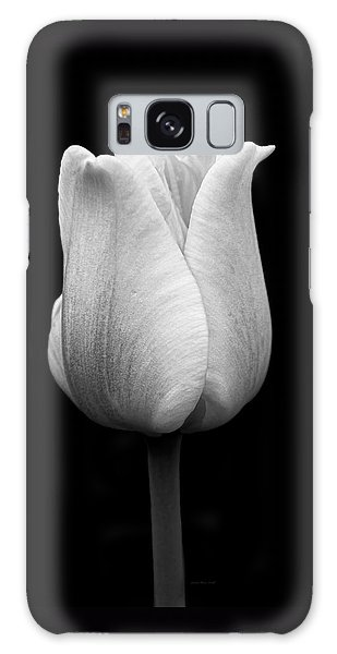 Dramatic Tulip Flower Black And White Galaxy Case