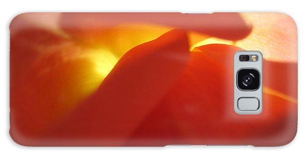 Glowing Orange Rose 2 Galaxy Case