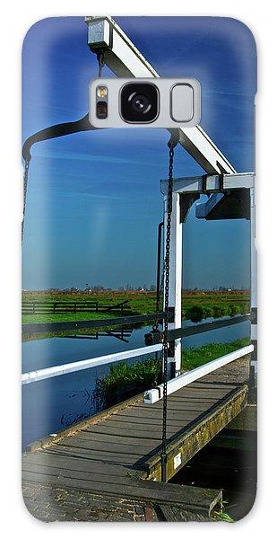 Drawbridge At Zaanse Schans Galaxy Case by Jonah  Anderson
