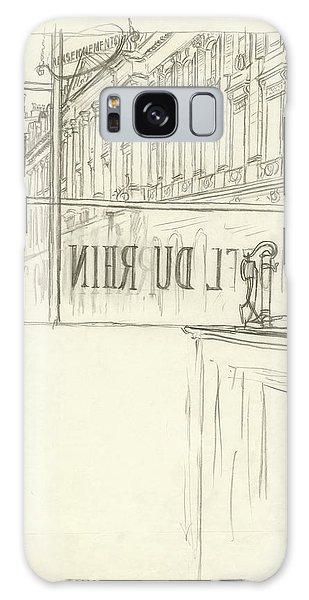 Drawing Of A Bar And Front Window Of Hotel Du Rhin Galaxy S8 Case