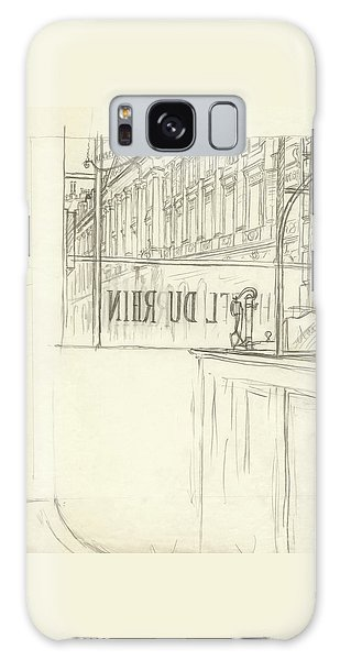 Drawing Of A Bar And Front Window Of Hotel Du Rhin Galaxy Case