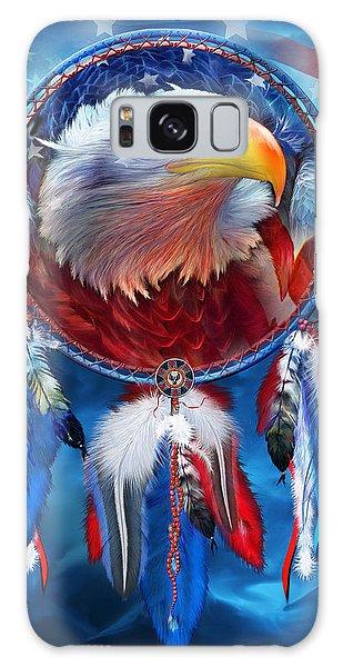 Dream Catcher - Eagle Red White Blue Galaxy Case
