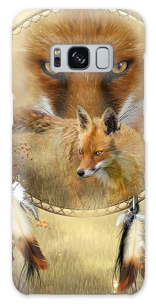 Galaxy Case featuring the painting Dream Catcher- Spirit Of The Red Fox by Carol Cavalaris