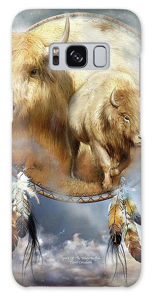 Dream Catcher - Spirit Of The White Buffalo Galaxy Case by Carol Cavalaris