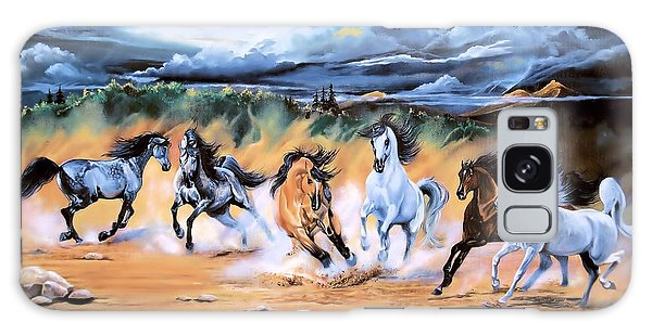 Dream Horse Series 125 - Flat Bottom River Wild Horse Herd Galaxy Case