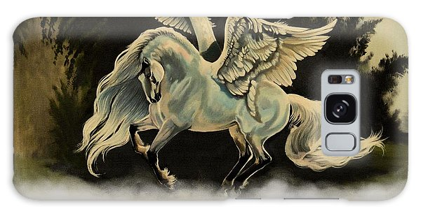 Dream Horse Series #206- A Pegasus In The Mist  Galaxy Case by Cheryl Poland