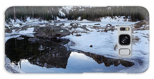 Galaxy Case featuring the photograph Dream Lake Reflection Square Format by Aaron Spong