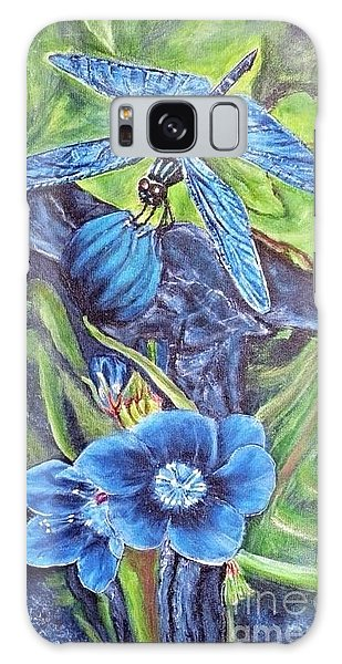 Dream Of A Blue Dragonfly Galaxy Case by Kimberlee Baxter