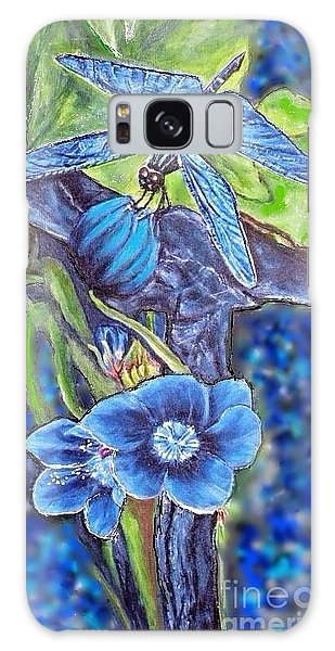 Dream Of A Blue Dragonfly Over Water Galaxy Case by Kimberlee Baxter