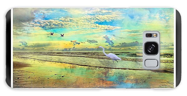 Framing Galaxy Case - Dreaming Along The Coast -- Egret  by Betsy Knapp