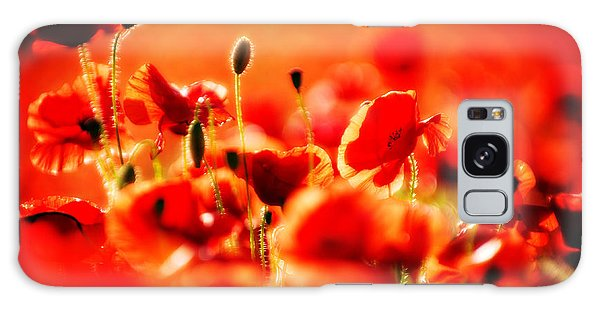 Dreaming Of Poppies Galaxy Case by Meirion Matthias