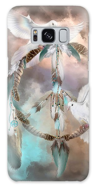 Dreams Of Peace Galaxy Case by Carol Cavalaris