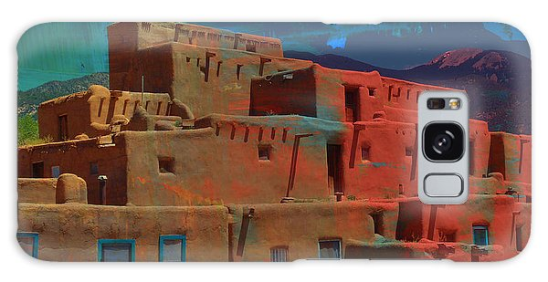 Galaxy Case featuring the mixed media Dreams Of Taos by Michelle Dallocchio