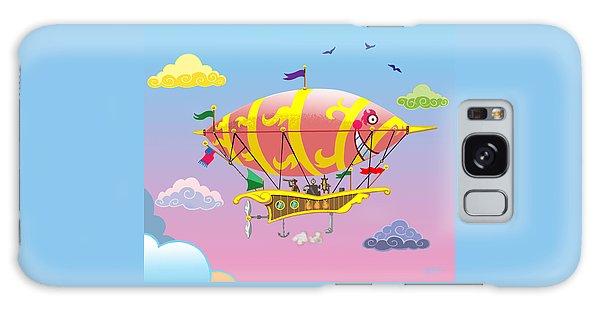 Rainbow Steampunk Dreamship Galaxy Case