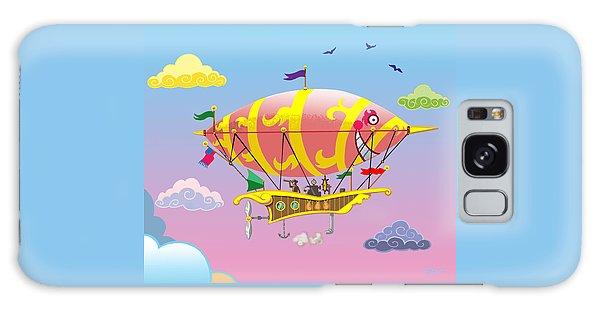 Rainbow Steampunk Dreamship Galaxy Case by J L Meadows