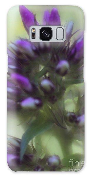 Dreamy Lavendar Buds Galaxy Case by Mary Lou Chmura