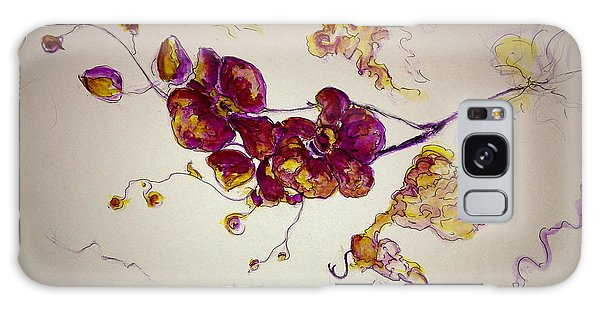 Dreamy Orchid Galaxy Case by Rae Chichilnitsky