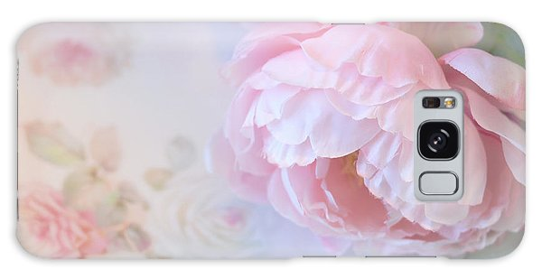 Cottage Galaxy Case - Dreamy Shabby Chic Pink Peonies - Romantic Cottage Chic Vintage Pastel Peonies Floral Art by Kathy Fornal