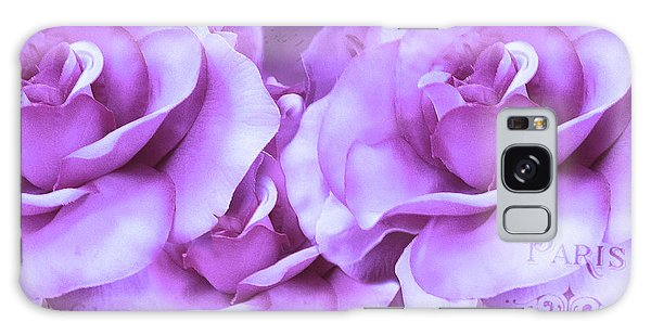 Dreamy Shabby Chic Purple Lavender Paris Roses - Dreamy Lavender Roses Cottage Floral Art Galaxy Case