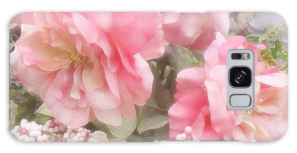 Dreamy Vintage Cottage Shabby Chic Pink Roses - Romantic Roses Galaxy Case