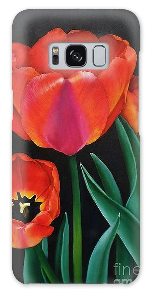 Dressed In Red Galaxy Case by Paula Ludovino