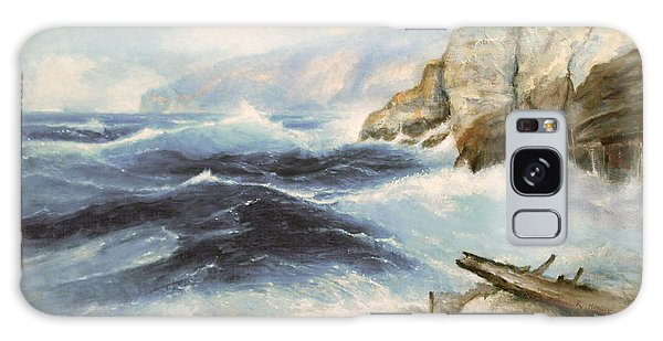 Driftwood Cliffs Galaxy Case by Richard Hinger